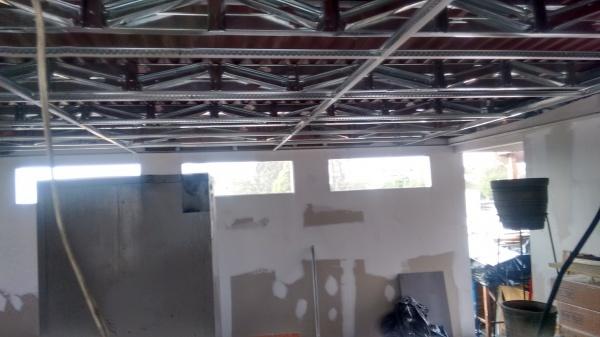 Remodelacion de taller con drywall