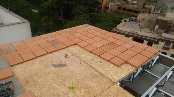 Techo de drywall con cubierta de ladrillo Pastelero – Llámanos